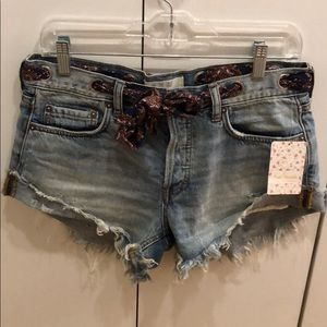 Free people denim shorts- size 26